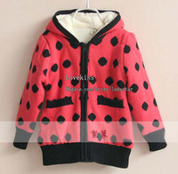Cardigan Girl Winter Child Casual Hooded Cardigan Kids Clothes Girls Cute Polka Dot Cardigan Sweater Coat Children Clothing Long Sleeve Cardigan Knitted Sweaters