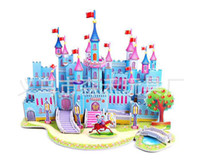 Wholesale Children s toy castle d jigsaw puzzle jigsaw puzzle toys handmade wsd