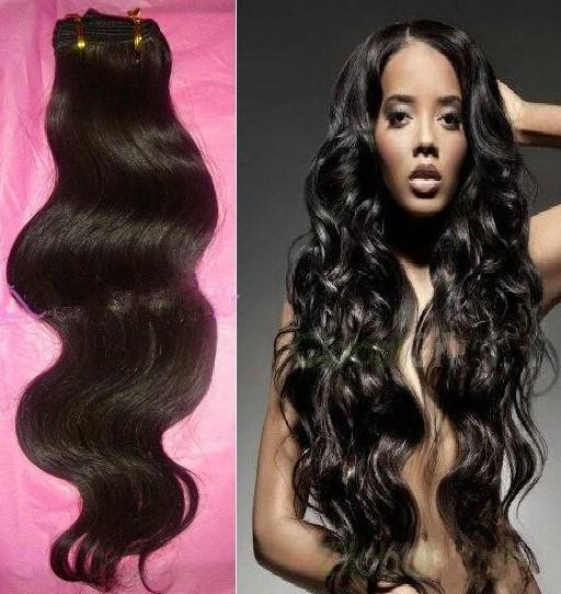 Weave Brazilian Malaysian Peruvian Indian Virgin Human Hair Extensions ...