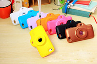 Wholesale Fashion Camera Design Soft Silicone Case For Iphone c Iphone Screen protector