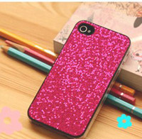 Wholesale The thin fashionable bright iPhone4s mobile phone sets glitter sequins mobile phone shell Protective sleeve Random
