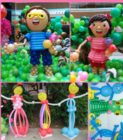 Wholesale MOQ Long Balloons Animal Tying Making DIY Decoration Latex Twist Assorted Party Balloons L412