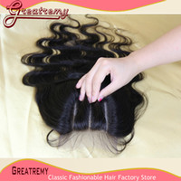"""3 Way Part Lace Closure Hairpieces Hair Extensions 8"""" - 2..."""