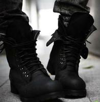 venda por atacado botas curtas-transporte livre !!! botas Retro combate Inverno England estilo dos homens elegantes de curto preto shoes`Hot! LS034