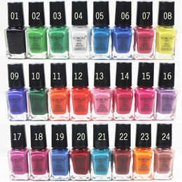 Wholesale 24 Colors Nail Polish Nail Art Decorations Colorful Nail Enamel Nails Varnish Easy Dry Nail Enamel Brand Polish Lacquer Nail Polish Sets