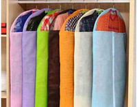 Wholesale Transparent multicolour clothes dust cover thickening non woven sheathers storage bag home storage size large