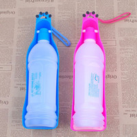 Wholesale Colorful Pet Travel Bowl Dog Water Feeding Drink Bottle Cat kettle Dispenser Pet Water Bottle ml