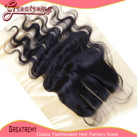 "3 Way Part Lace Closure Hairpieces Hair Extensions 8"" - 2..."