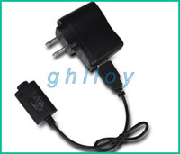 Wholesale EGO USB Charger Cables US EU Wall Charger for ego ego t ego w ego c Battery e cigarette electronic cigarette black pc