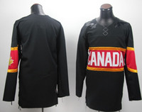 Ice Hockey Unisex Full Wholesale Cheap 2014 Olympics Canada Hockey Jerseys Team Blank Black Jersey