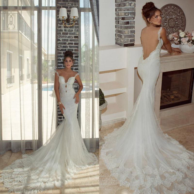 Exquisite gorgeous 2014 wedding dresses with open back for Wedding dresses with the back open