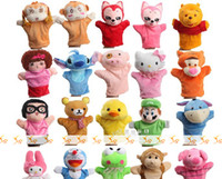 Wholesale Children Like Animal Plush Hand Puppet Finger Puppet Plush Doll for Crafts MA1101