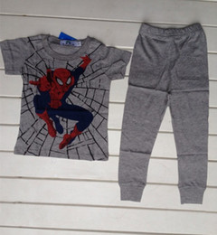 Wholesale Cool Spiderman baby clothes Summer cotton baby pajamas Popular design