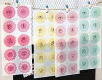 Wholesale Round shape various color fashion and cute seals sticker and paster for cookie biscuit cake bakery packing