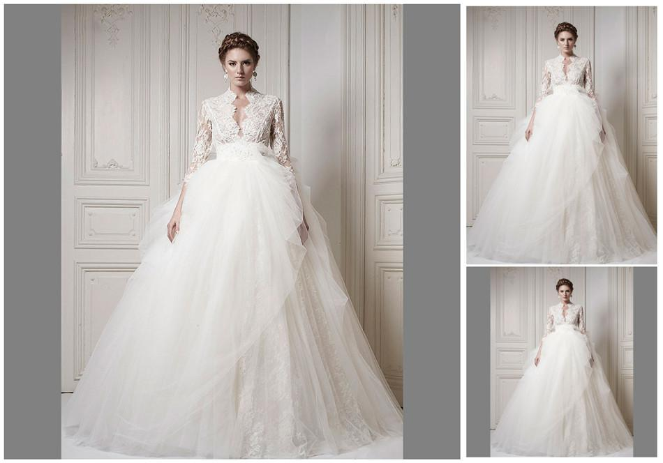 Long Sleeve Designer Wedding Dress – fashion dresses
