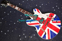 Wholesale Custom Shop United Kingdom National Flag Hollow body UK Jazz Electric Guitar Luxury Guitar By Topsellingguitar1960