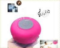 Wholesale Wireless Waterproof Bluetooth Speaker with Suction Cup and Built in Microphone can answer phone calls colors used outdoor or bathoom