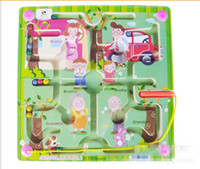 Wholesale Children s toys magnetic brush maze magnetic family initiation toy wooden toys