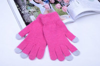 Wholesale New Colorful Winter warm touch Cotton gloves capacitive screen conductive gloves for Intelligent mobile phone iphone ipad mini Christmas