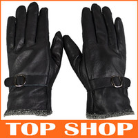 Wholesale Five Fingers Gloves Winter Fashion Gloves Men Thick Warm Leather Gloves SS0031