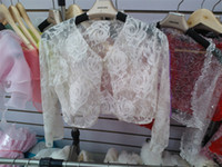 Wrap Lace Sleeveless Wedding Wrap Jacket Bolero Custom-made Shrug lace Coat Bridal Shawl Multi-color 06