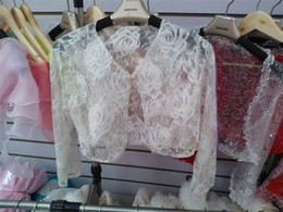 Wholesale Wedding Wrap Jacket Bolero Custom made Shrug lace Coat Bridal Shawl Multi color