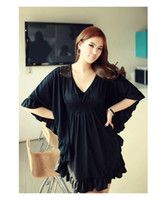 Cotton Cotton and Spandex SG449 SG449-Bust 120cm Plus Size Clothing Blouse European Style Batwing Women