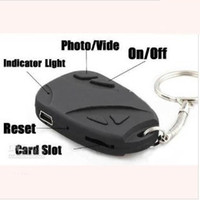 Wholesale 1280 Pixel Spy Camera mini DV Spy Keychain Car Keys DVR