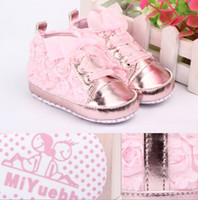 Wholesale 2013 Baby shoes new spring and roses soft bottom baby toddler shoes