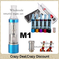 Electronic Cigarette Atomizer Random Colors 2013 Colorful M1 Solid Wax Vaporizer Detachable Clearomizer Bottom Heating Coil Atomizer Vape Protank with LED Light Lamp Cartomizer EGO 510