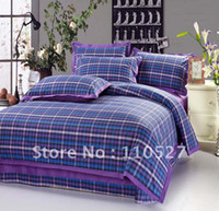 Wholesale 100 Cotton s yarn dyed bedding Bed Sheets Bedding Set duvet cover set For Retail amp