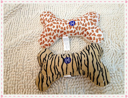 New style pet dog puppy soft plush toy bone shape with squeak sound toy animal fabric 20pcs lot