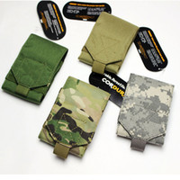 Wholesale Universal Army Camo D Nylon Mobile Phone Belt Loop Hook Molle Pouch Bags Cover Case Holsterfor Outdoor Sports ravel Climbing
