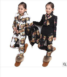 Wholesale New Arrival Children Suits Tiger Headed Girl Sport Suits junior s Foreign Trade Suit Three piece Suits