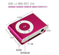 Wholesale metal mp3 player with mini clip and TF card slot MP3 USB Earphone Charger Box options to choice DHL free