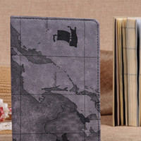 ipad apples maps - Calassic Nautical maps Pattern Slim Leather Cover Case For Ipad with wake up with Retail Packaging