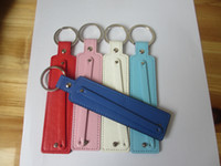Wholesale pieces mm PU leather key chain metal key ring diy MM slide charms slide letters