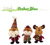 Wholesale pieces quot Indoor Christmas Hanging Ornaments Decoration Santa Claus Snowman Deer SHB044