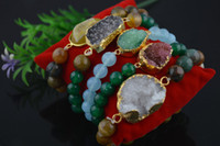 Wholesale New arrival Fashion Drusy Agate Charms Bracelets Druzy Jewelry for Men and Women pc