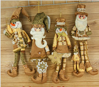 Wholesale New Arrival quot Christmas Hanging Ornaments Decoration Santa Claus Snowman SHB057