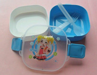 Wholesale The Bunk Lock Round Square Airtight Container Set Microwave Lunch Box F681 F681