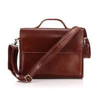 Wholesale Brand New Design Genuine Cow Leather Men s Business Briefcase Laptop Handbag Shoulder Messenger Bag