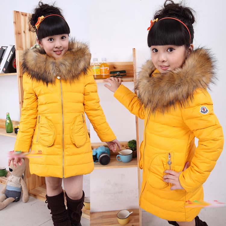 Hot Sale Child Brands Down Jacket Baby Girls High Quality Fashion