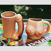 Wholesale Creative Ceramic Couple Coffee Mug Novelty Sexy Milk Cup Fashion Drinkware Valentine s Gift set SH223