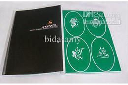 Wholesale Temporary Airbrush Tattoo Stencil Template Booklet designs