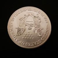 Metal silver eagle - oz silver replica American libery Eagle Coin silver clad plated brass core coin