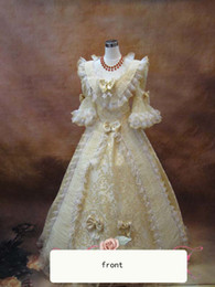 Wholesale Freeship Medieval Renaissance lace Gown queen Dress stage dance Costume Victorian Lolita Marie Antoinette civil war Colonial Belle Ball