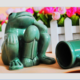 Wholesale HOT Sale Sexy Thinking Frog Porcelain Coffee Mug Cute Drinking Cup Novelty Wedding Gift SH224