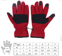 Wholesale Outdoor Women Thermal Thickening Windproof Hiking Ride Touch Gloves For Iphone Apad M L XL Red Black Grey Option