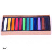Wholesale Colors Chalk Pen Mild Hair Color Salon Product Drawing Rainbow Colors Box ZAC